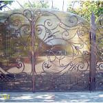 Кованные ворота, заказать в Новом Свете