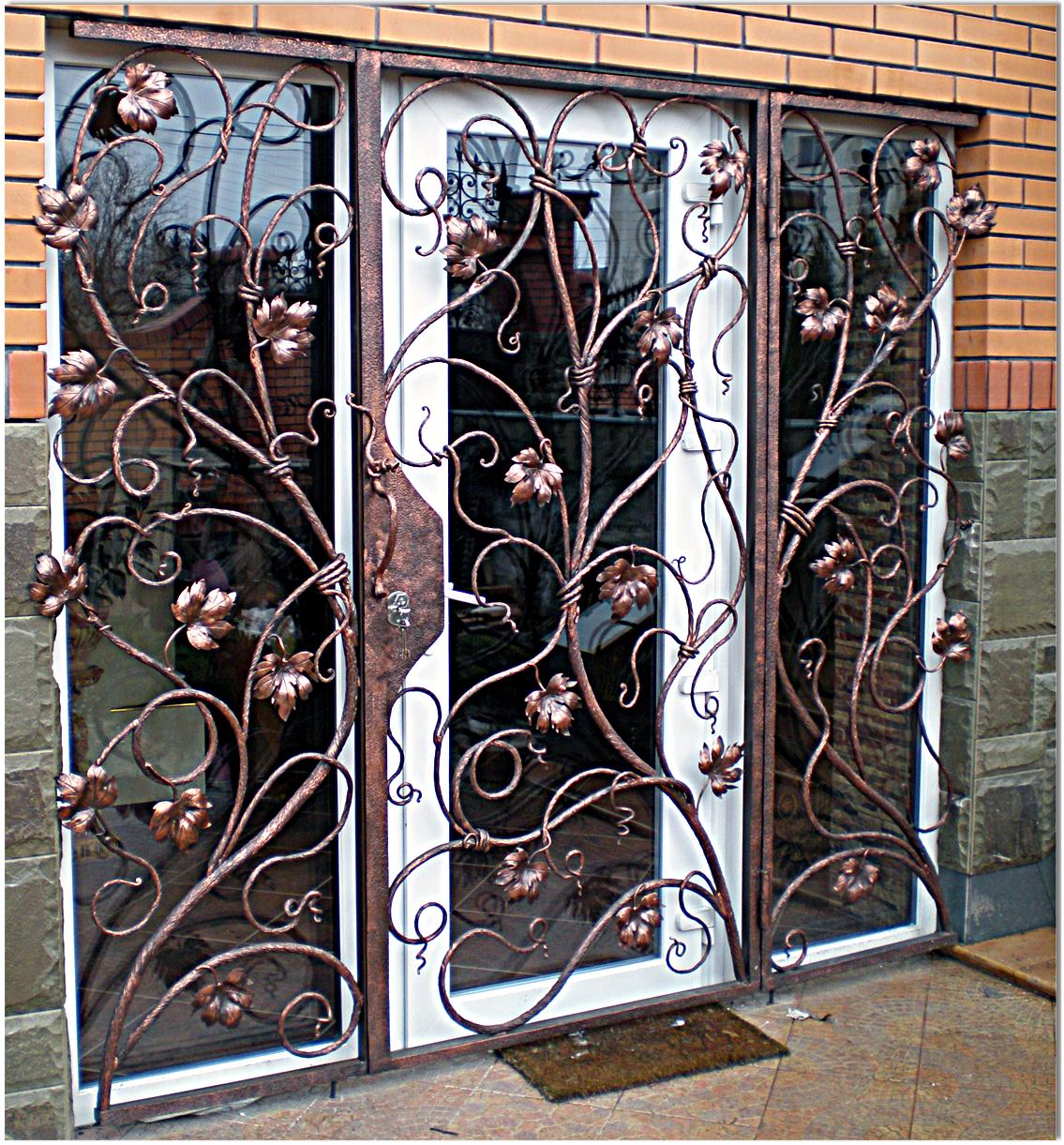 металлические двери решетки ковк