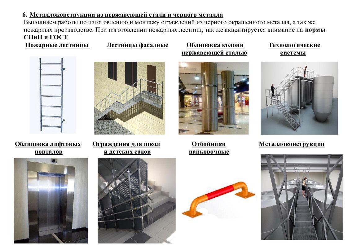 изготовление и монтаж перил, навесов, перегородок в Крыму